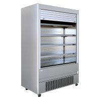 Mafirol CRONUS1250OP-SS-MA Tiered Display with Lockable Shutter 1310mm Wide