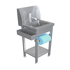 Parry MSH Stainless Steel Mini Handwash Sink With Open Shelf