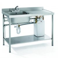 Parry QFSINK1870L30L – Quick Fit Heated Sink Double Bowl Left/Right Hand Drainer 30 Litre Boiler, 1800mm wide