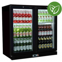 Sterling Pro Green SP2HC-BH Black Hinged Double Door Bottle Cooler 192 Ltrs /180 Bottles