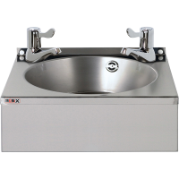 "Mechline Basix WS4L Stainless Steel Handwash Basin with 3"" Lever Taps"