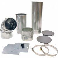 Whirlpool C00325612 Vent Kit 4 Inch Rigid Aluminium