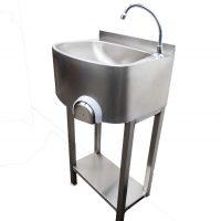 Parry CWBKNEES Freestanding Stainless Steel Knee Operated Sink
