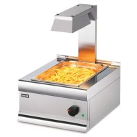 Lincat CS4G Silverlink 600 Electric Counter-top Chip Scuttle with Overhead Gantry 450mm (w)