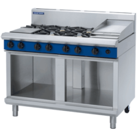 Blue Seal G518C-CB 1200mm Gas Cooktop with Griddle on Cabinet Base