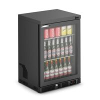 IMC Mistral M60 Reduced Height Single Glass Door Bottle Cooler, Black Frame (F77151B) 850mm (h)