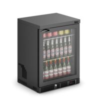 IMC Mistral M60 Reduced Height Single Glass Door Bottle Cooler, Black Frame (F77152B) 800mm (h)