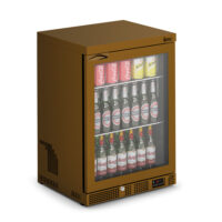IMC Mistral M60 Reduced Height Single Glass Door Bottle Cooler, Brown Frame (F77151BR) 850mm (h)