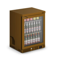 IMC Mistral M60 Reduced Height Single Glass Door Bottle Cooler, Brown Frame (F77152BR) 800mm (h)