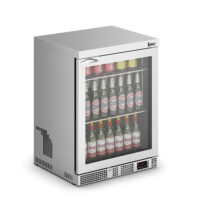 IMC Mistral M60 Reduced Height Single Glass Door Bottle Cooler, SS Frame (F77152) 800mm (h)
