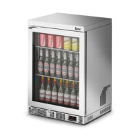 IMC Mistral M60 Reduced Height Single Glass Door Bottle Cooler, Silver Frame (F77151SL) 850mm (h)