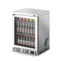 IMC Mistral M60 Reduced Height Single Glass Door Bottle Cooler, Silver Frame (F77152SL) 800mm (h)
