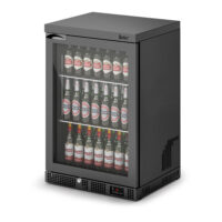 IMC Mistral M60 Standard Single Glass Door Bottle Cooler, Black Frame (F77150B)