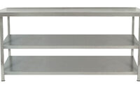 Parry TAB186002 Stainless Steel Centre Table With Two Undershelves - 1800mm(w)