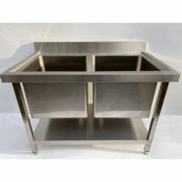 NOWAH Stainless Steel Double Deep Bowl Pot Wash Sink 1200mm