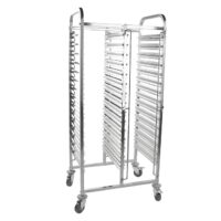 iMettos 15 Tier Double Row Racking Trolley (30 Shelves) for GN Pan 1/1