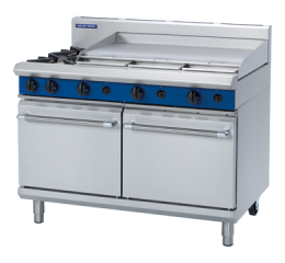 Blue Seal G528A 1200mm 2 Burner Gas Range with Double Static Oven
