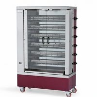 GGF Chicken Gas Rotisserie G6-S, 6 Spits, All Italian Components