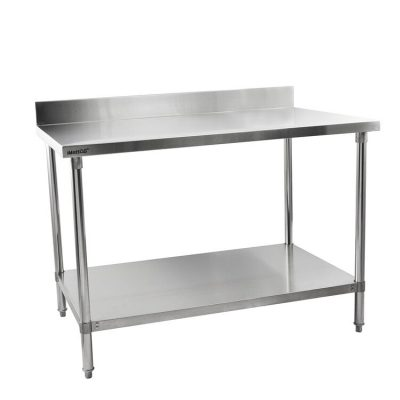 Hamoki Wall Tables with Upstand, Widths: 600mm, 900mm, 1200mm, 1500mm & 1800mm