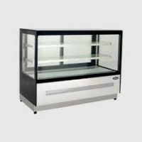 ATOSA WDF097F Two Shelf Squared Glass Deli Counter 290L