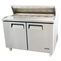 ATOSA 340L Double Door Food Prep Table Fridge MSF8302