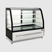 ATOSA WDF127S Three Shelf Curved Glass Deli Counter 400L