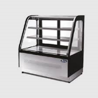ATOSA WDF157X Two Shelf Curved Glass Deli Counter 465L