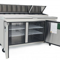ATOSA 570L Double Door Food Prep Table Fridge MPF8202