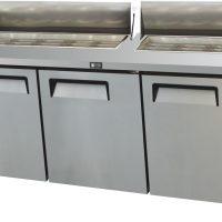ATOSA 930L Three Door Open Top Marble Counter Fridge MSF8304
