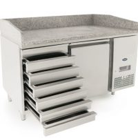 ATOSA EPF3490GR Pizza Counter 1 Door 7 Ambient Drawers 390L