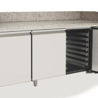 ATOSA EPF3485GR Pizza Counter with 3 Doors 485L