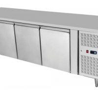ATOSA Green Range 510L Four Door Under Counter Freezer with Splashback EPF3482GRSB