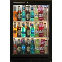BLIZZARD Black Single Door Bar Bottle Cooler BAR1