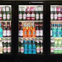 BLIZZARD Black Triple Door Bar Bottle Cooler BAR3