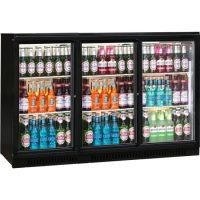 BLIZZARD Black Triple Sliding Doors Bar Bottle Cooler BAR3SL
