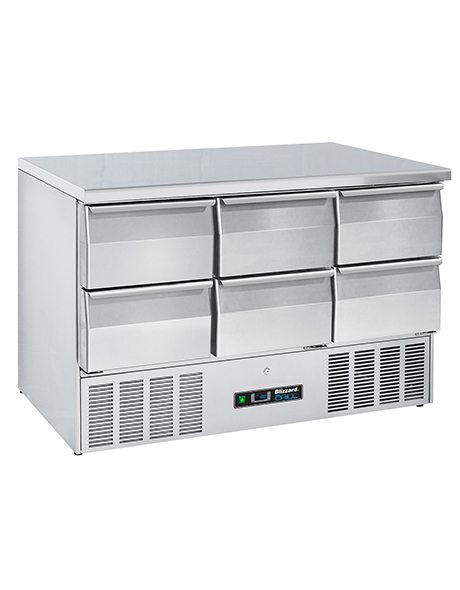 BLIZZARD Compact Gastronorm Counter with Drawers BCC3-6D-ECO