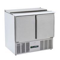 BLIZZARD BSP2-ECO Compact Gastronorm Saladette with Hinged Lid 220L
