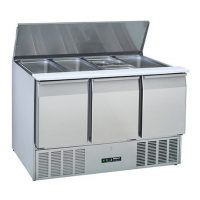 BLIZZARD Compact Gastronorm Saladette with Hinged Lid BSP3-ECO