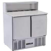 BLIZZARD BCC2PREPGRANITE-ECO Compact Refrigerated Pizza Prep Counter 240L