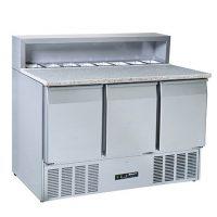 BLIZZARD BCC3PREPGRANITE-ECO Compact Refrigerated Pizza Prep Counter 402L