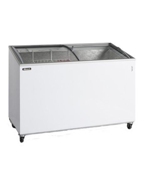 BLIZZARD Curved Lid Ice Cream Display Freezer