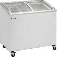 BLIZZARD Curved Lid Ice Cream Display Freezer IC7