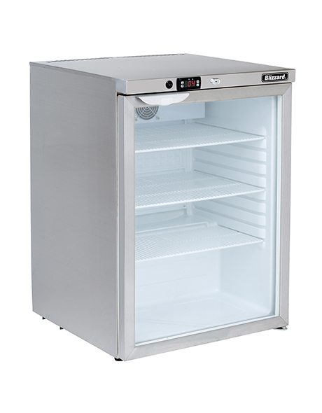 BLIZZARD Glass Door Under Counter Refrigerator UCR140CR