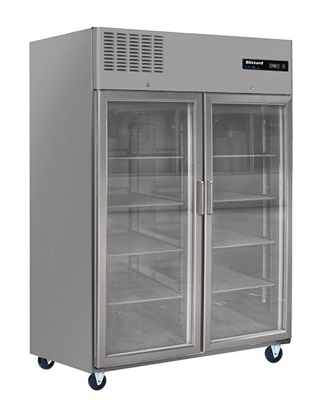 BLIZZARD Glass Double Door Ventilated Gastronorm Freezer BL2SSCR