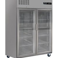 BLIZZARD Glass Double Door Ventilated Gastronorm Refrigerator BH2SSCR