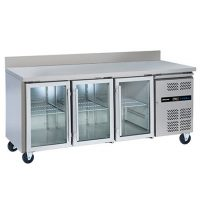 BLIZZARD HBC3CR Refrigerated Glass Door Gastronorm Counter 465L