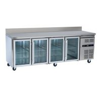 BLIZZARD HBC4CR Refrigerated Glass Door Gastronorm Counter 616L