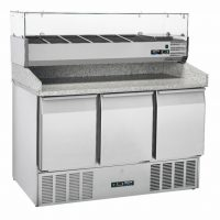 BLIZZARD BCC3PIZZA-ECO Compact Gastronorm Pizza Prep Counter with UpStand 330L