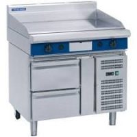 Blue Seal 1200mm Electric Griddle with Refrigerated Base EP518-RB