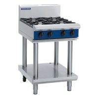 Blue Seal 4 Burner 600mm Gas Cooktop with Leg Stand G514D-LS